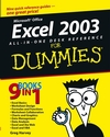 Excel 2003 All-in-One Desk Reference For Dummies (1118053230) cover image