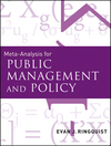 Meta-Analysis for Public Management and Policy (1118190130) cover image