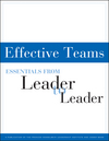 Effective Teams: Essentials from Leader to Leader (1118587030) cover image