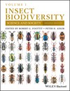 Insect Biodiversity: Science and Society, Volume 1, 2nd Edition (1118945530) cover image