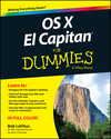 OS X El Capitan For Dummies  (1119149630) cover image