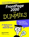 FrontPage 2000 For Dummies (0764504231) cover image