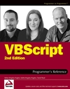 VBScript Programmer's Reference, 2nd Edition (0764559931) cover image