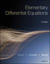 Elementary Differential Equations, 11th Edition (1119320631) cover image