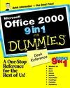 Microsoft Office 2000 9 in 1 For Dummies Desk Reference (0764503332) cover image