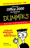 Microsoft Office 2000 for Windows For Dummies: Quick Reference  (0764504533) cover image