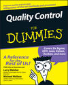 Quality Control for Dummies (1118051033) cover image