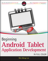 Beginning Android Tablet Application Development (1118106733) cover image