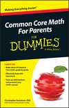Common Core Math For Parents For Dummies with Videos Online (1119013933) cover image