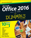 Office 2016 All-In-One For Dummies (1119083133) cover image