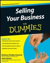 Selling Your Business For Dummies (0470446234) cover image
