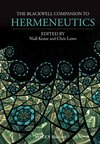 The Blackwell Companion to Hermeneutics (1118529634) cover image