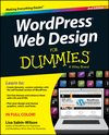 WordPress Web Design For Dummies, 2nd Edition (1118546636) cover image