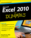 Excel 2010 For Dummies (0470489537) cover image