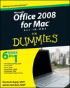 Office 2008 for Mac All-in-One For Dummies (0470554037) cover image