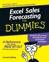 Excel Sales Forecasting For Dummies (0764575937) cover image
