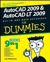 AutoCAD 2009 and AutoCAD LT 2009 All-in-One Desk Reference For Dummies (0470383038) cover image