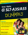 Sony Alpha SLT-A35 / A55 For Dummies (1118240138) cover image