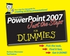 PowerPoint 2007 Just the Steps For Dummies (0470148039) cover image