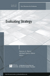Evaluating Strategy: New Directions for Evaluation, Number 128  (1118005139) cover image