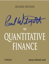 Paul Wilmott on Quantitative Finance, 2nd Edition (1118836839) cover image