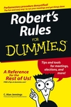 Robert's Rules For Dummies (0764575740) cover image