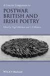 A Concise Companion to Postwar British and Irish Poetry (1118646940) cover image