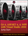 C# 4, ASP.NET 4, and WPF, with Visual Studio 2010 Jump Start (0470770341) cover image