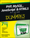 PHP, MySQL, JavaScript & HTML5 All-in-One For Dummies (1118231341) cover image