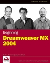 Beginning Dreamweaver MX 2004 (0764555243) cover image