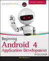 Beginning Android 4 Application Development (1118228243) cover image