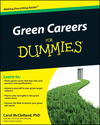 Green Careers For Dummies (0470603844) cover image