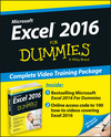 Excel 2016 For Dummies Book + Online Videos Bundle