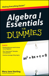 Algebra I Essentials For Dummies (0470618345) cover image