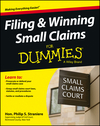 Filing and Winning Small Claims For Dummies (1118461045) cover image