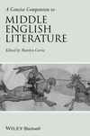 A Concise Companion to Middle English Literature (1405120045) cover image