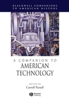 A Companion to American Technology (1405179945) cover image