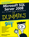 Microsoft SQL Server 2008 All-in-One Desk Reference For Dummies (0470179546) cover image