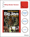 Big Java: Early Objects, Binder Ready Version, 6th Edition (1119056446) cover image