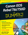 Canon EOS Rebel T6i / 750D For Dummies (1119128846) cover image
