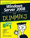 Windows Server 2008 All-In-One Desk Reference For Dummies (0470180447) cover image