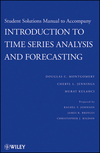 Student Solutions Manual to Accompany Introduction to Time Series Analysis and Forecasting (0470435747) cover image