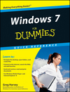 Windows 7 For Dummies Quick Reference (0470567147) cover image