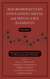 Macromolecules Containing Metal and Metal-Like Elements, Volume 10, Photophysics and Photochemistry of Metal-Containing Polymers (0470597747) cover image