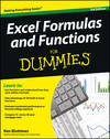 Excel Formulas and Functions For Dummies, 3rd Edition (1118460847) cover image