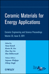 Ceramic Materials for Energy Applications: Ceramic Engineering and Science Proceedings, Volume 32, Issue 9 (1118059948) cover image