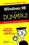 Windows 98 For Dummies : Quick Reference (0764502549) cover image