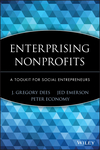 Enterprising Nonprofits: A Toolkit for Social Entrepreneurs (0471397350) cover image