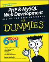 PHP and MySQL Web Development All-in-One Desk Reference For Dummies (1118051750) cover image
