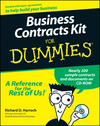 Business Contracts Kit For Dummies (1118069250) cover image